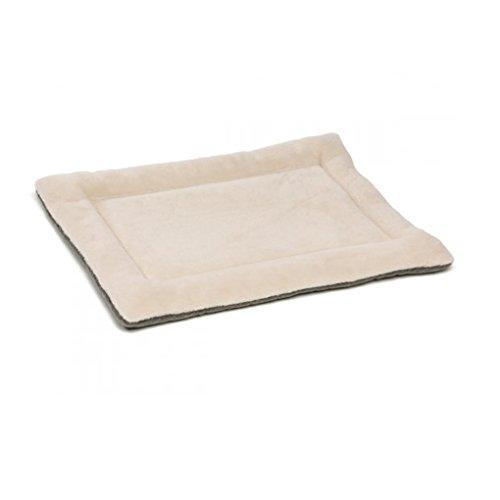 QHGstore Hundebox Mat Kennel Cage Auflage-Bett Fluffy Washabel Spielraum-Haustier-Kissen Beige& L (Hundebox Mat)