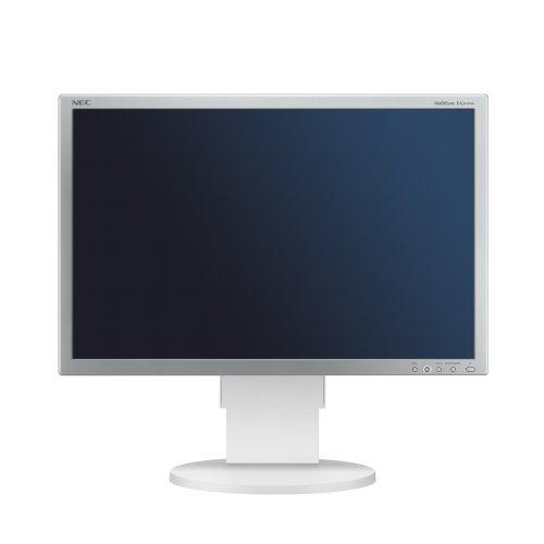 NEC MultiSync EA241WM 61 cm (24 Zoll) TFT Monitor (LCD, DVI-D, VGA, 60 Hz, 5ms Reaktionszeit) weiß Nec Multisync Flat-panel-display