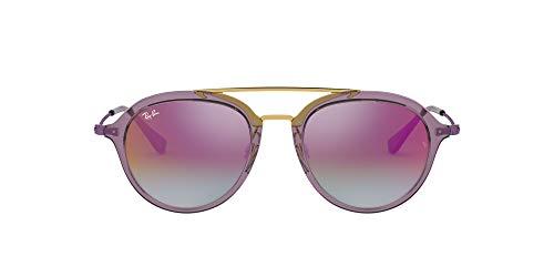 Ray-ban junior 0rj9065s 7036a9 48 occhiali da sole, viola (trans violet), unisex-bambini