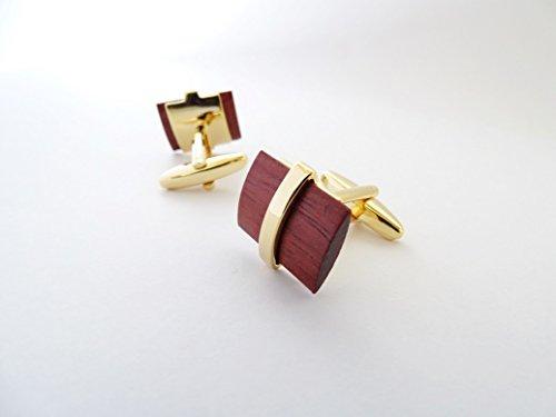 Preisvergleich Produktbild Dakani Herren Elegante Manschettenknöpfe aus Holz