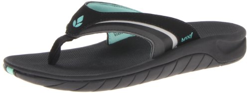 Reef Damen Girls Slap 3 Zehentrenner, Schwarz Black/AQU BKQ, 38.5 EU Reef Girls