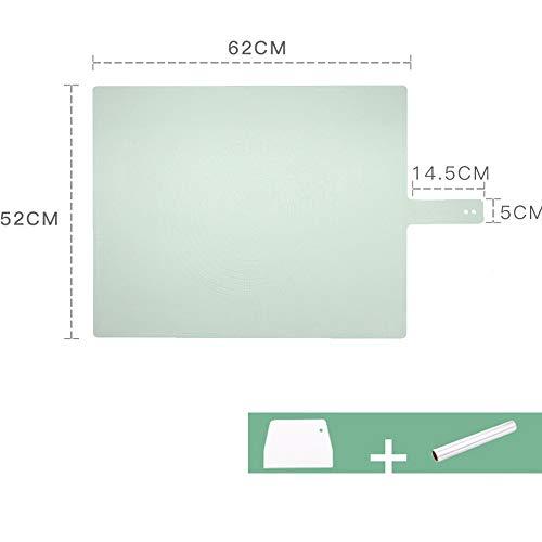 xgvvb Silikonmatte Matte Lebensmittelqualität Panel Haushaltsbackenwerkzeuge Olivgrün (Schneidemesser + Kochen Aluminiumfolie Papier)