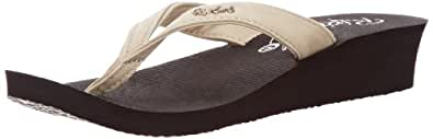 Rip Curl Womens Morea Thong Sandals TGTAN1 Ivory/Black 3.5 UK, 36 EU