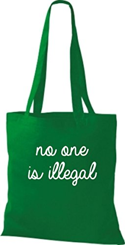 Sacchetto Di Cotone In Tessuto Non È Illegale, Nessuno È Illegale, Giusto Colore Rosa Kelly