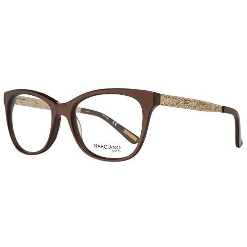 Guess Damen by Marciano Brille Gm0268 53048 Brillengestelle, Braun, 53
