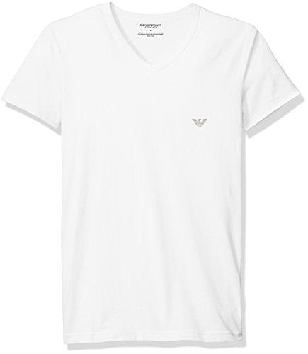 aa8a1d34fec Emporio Armani EA7 T-Shirt Maglia Manica Corta Uomo Scollo a V WHITE 110810  6A725