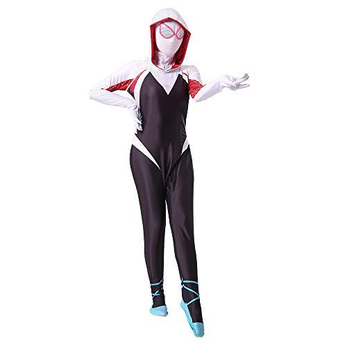 Hope Die Erstaunliche Spider-Man Gwen Stacy Kleidung Cosplay Siamese Strumpfhosen Movie Party Kostüm Halloween Kostüm Overall für Erwachsene Kinder,A-190 cm
