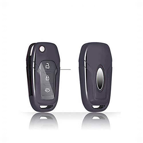 LINDANIG Für Ford Schlüsselanhänger Abdeckung, Premium Soft TPU 360 Grad Voller Schutz Schlüssel Shell Key Case Cover Kompatibel mit Edge Escort Kuga Explorer Mondeo Klasse Keyless Smart Schlüsselanhä (Smart Escort)