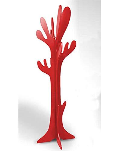 Attaccapanni Da Terra In Legno.Generico Appendiabiti Da Terra Attaccapanni Albero Modello Cactus In Legno Rosso