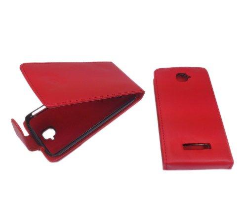 handy-point Klapphülle Klapptasche Tasche Hülle mit Fach für EC-Karte Flip Case für Alcatel One Touch Pop C7, 7041D in Rot (Rot - Hülle für Alcatel One Touch Pop C7) (Pop C7 Touch One)