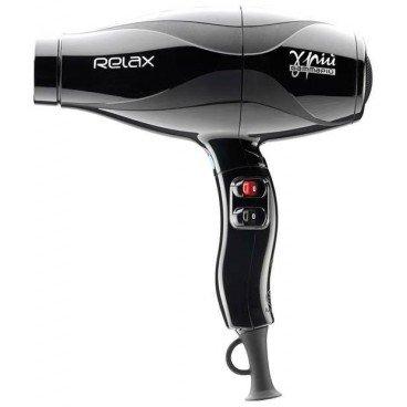 Gamma Piu Relax Silent Light - Secador de pelo, color negro