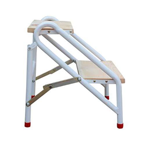 KJZ Schuhregal, Wohnzimmerleiter aus Metall Dreistufige Multifunktionsleiter Klappbare Zweischrittleiter (größe : 45 * 45 * 47CM)