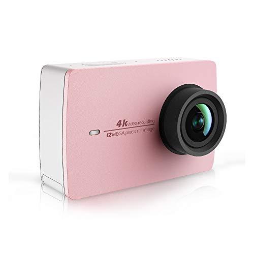 """YI Action Cam 4k/30fps WiFi Videocamera Fotocamera Bluetooth Comando Vocale,Dual Microfono,Touchscreen LCD da 2.2\"""" Integrato con Tecnologia Stabilizzatore EIS Action Camera Edizione Limitata Oro Rosa"""