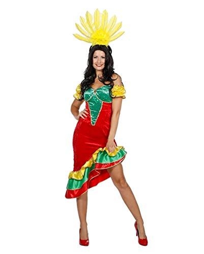 Tänzerin Kostüm Karneval Brasilianischen - Horror-Shop Samba Brasilianerin Kostüm für Karneval in Rio 38