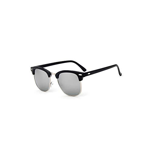 WJFDSGYG Half Metal Fashion Sonnenbrille Herren/Damen Designer Niet Objektiv Sonnenbrille Damen Uv400