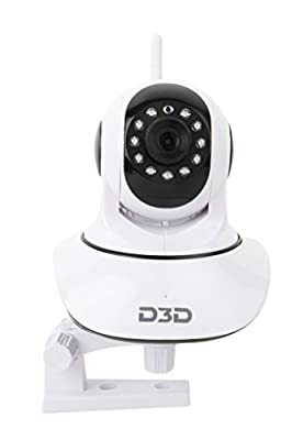 D3D Wireless HD IP Wifi CCTV [Watch ONLINE DEMO right now] indoor Security Camera (support upto 128 GB SD card) (white Color) D8810