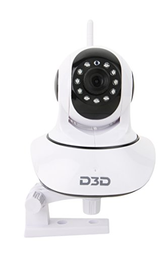 D3D Wireless HD IP Wifi CCTV Indoor Security Camera (Support upto 128 GB SD card) (White Color) Model:D8810