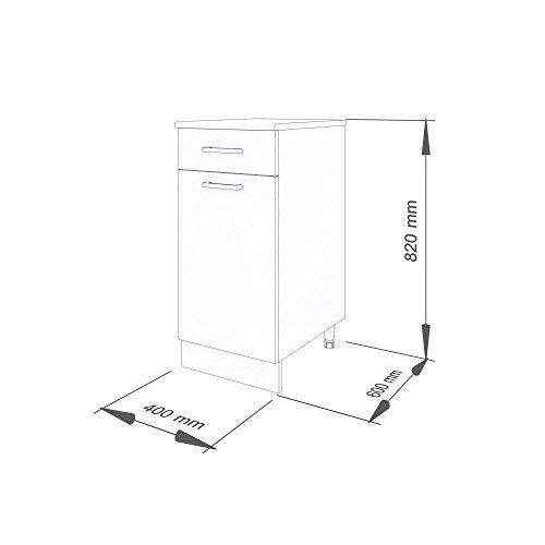 """40 cm Unterschrank für die Küche \""""Alina"""" (1007) (Truffel-Sonoma)"""