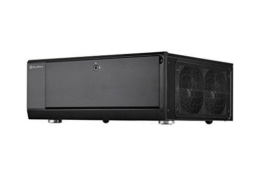 SilverStone SST-GD10B - Grandia HTPC ATX Desktop Gehäuse mit hochleistungsfähigem und geräuscharmen Kühlsystem, schwarz