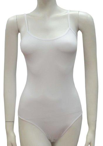 Mesdames cette sangle coton justaucorps / combinaisons(2310) blanc (white)