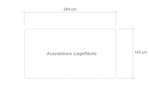3er Sofa Hector mit Staukasten und Bettfunktion - Abmessungen: 204 x 90 cm (B x T) - 6