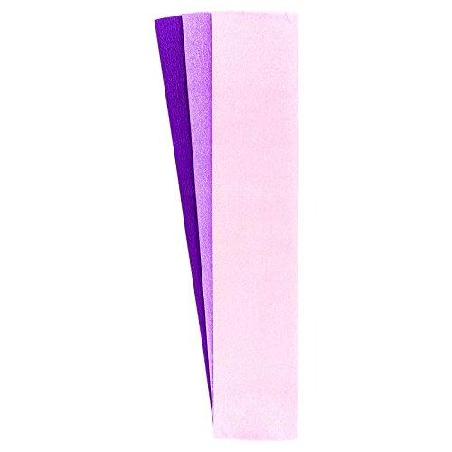 Krepp-Papiere, 50cm x 200cm, 3 Stück (rosa, flieder, violett)