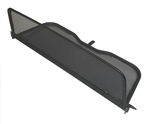 Frangivento pieghevole nero con chiusura rapida per Volkswagen New Beetle Decappottabile 2003-2012 | Deflettore aria | Deflettore del vento | Paravento per decappottabili