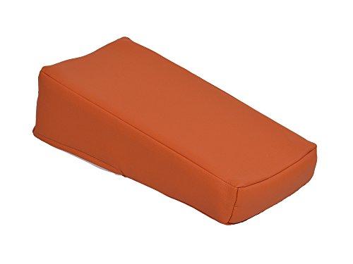 Injektionskissen aus Kustleder, 30 x 15 x 10/ 5 cm, Schaumstoff orange