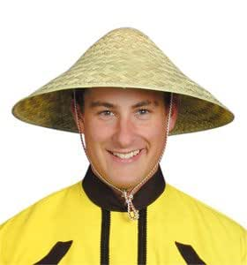 Hat Straw Chinese Coolie for Fancy Dress Party Accessory  Amazon.co ... 69e1abdebae8