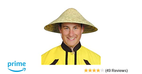 Hat Straw Chinese Coolie for Fancy Dress Party Accessory  Amazon.co.uk   Toys   Games feadfa3ed7b5
