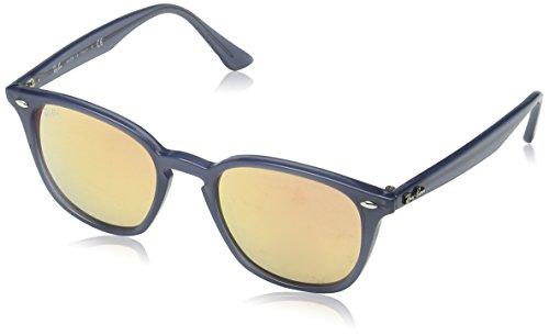 Ray Ban Unisex-Erwachsene Sonnenbrille RB4258, Türkis (Shiny Opal Dark Azure/Pink Flash Copper), One Size (Herstellergröße: 50)