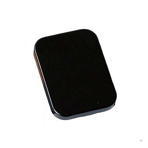 Fablcrew. Schutzhülle für Kontaktlinsen für Linsen mit Kontakte, für die Augen und die Objektive, Gehäuse mit Spiegel für Reisen 8.3 * 6.2 * 2.1cm Schwarz