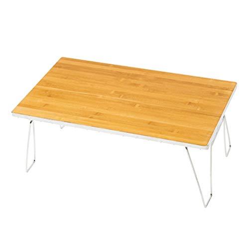 ChenBing-ftn Zusammenklappbare Catering Camping-Tischböcke Tragbarer Camping-Bambus-Tisch mit abnehmbarem Metallrahmen Für Dinner & Picknick Party