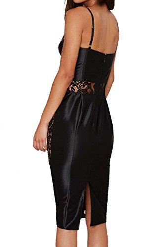 E-Girl SY60568 femme sexy robe mini Noir