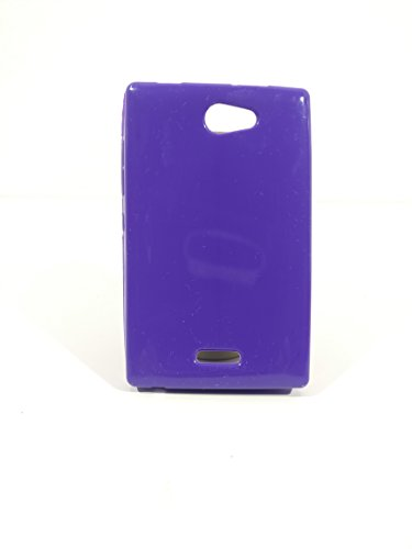 iCandy™ Colorfull Thin Soft TPU Back Cover For Nokia Asha 502 - Purple  available at amazon for Rs.109