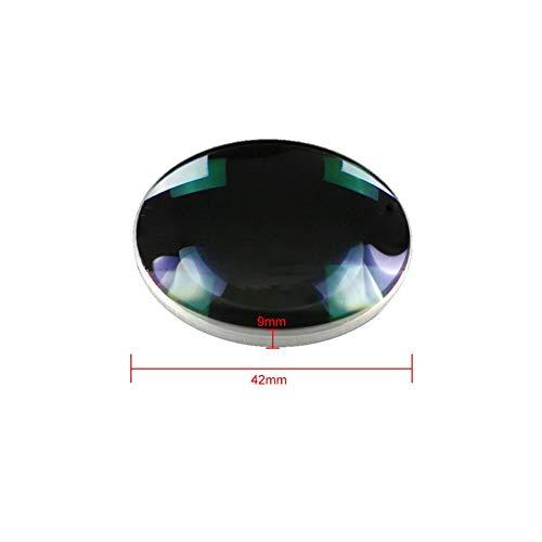 Optisches Glas Objektiv Konvexe Linse, 42mm Durchmesser 65mm Brennweite Optischer Test Konvexe Linse Optisches Instrument für Labs Experiment -