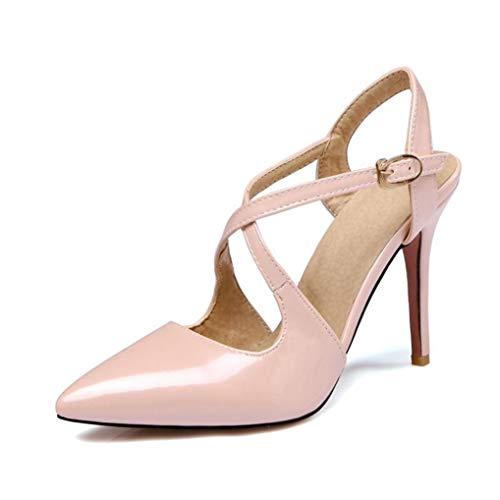 Donna punta a punta décolleté estate tacco alto caviglia fibbia con incrocio cinturino calzature matrimonio incontri donna tacchi a spillo sandali