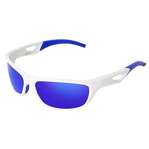 DOGZI Fahrradbrille Radbrille Sportbrille Klar, Polarisierte Sonnenbrillen, einschließlich Brillenglas Brillenetui Brillentasche Test Card