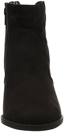 W0qduh77x Wide New Foot Femme Cowboy Noir Look Bottines OSvw0x