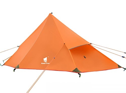 geertop 1 person 3 season 20d ultralight backpacking lightweight tent for camping hiking climbing (pole not included)