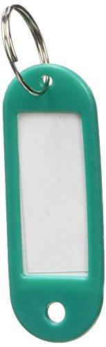 50 x plastica portachiavi chiave etichette ID etichetta nome etichette divisione anello