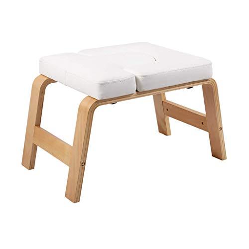 Kimjs Multifunktions invertierte Maschine Faltbare Yoga Inversion Hocker Haushalt Yoga Kopfstand Stuhl - Stand Yoga Stuhl für Familie, Gym Übung Übung Fitness,Weiß