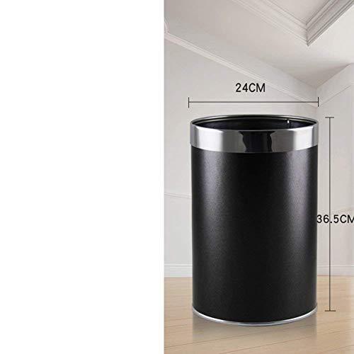 Willsego Abfalleimer Keine Abdeckung Mülleimer, Zylindrischen Abfallbehälter Abnehmbare innere Eimer Mülleimer Für Büro, Küche oder Schlafzimmer (Farbe : L, Größe : -)