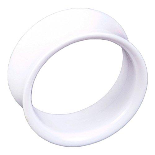 viva-adorno Double Flared Flesh Tunnel Plug Tube Tunnel ohne Gewinde Kunststoff Acryl verschiedene...