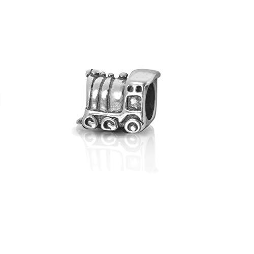 terling Silber Bead Lokomotive Charm Element Kugel für European Beads + Organzasäckchen ()