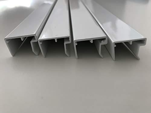 Alu-U-Abschlussprofil 16 mm weiß, 1200 mm lang, für den Abschluss von Stegplatten, mit Tropfnase