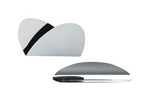 Alessi Schreibtisch Set, Metall, Chrom, 3 x 0.69 x 19.8 cm, 2-Einheiten