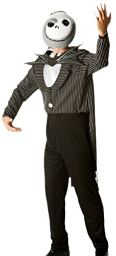 erdbeerloft - Herren Jack Skellington, Nightmare Before Christmas, Kostüm, M, (Skellington Kostüm)