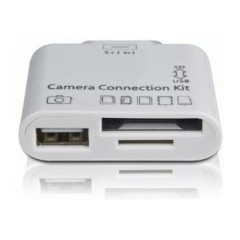 5 in 1 Camera Connection Kit for for iPad 1, 2 and 3 Connector SD SDHC TF MMC M2 MS Duo Camera - (Part of the GoGadget® range)