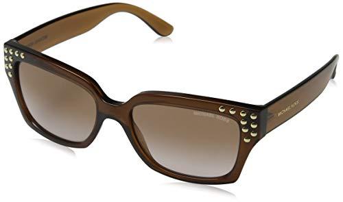 Michael kors 0mk2066 occhiali da sole, marrone (dark brown crystal), 55 donna